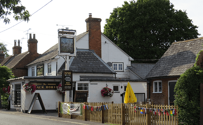 Black Horse pub near Fleet